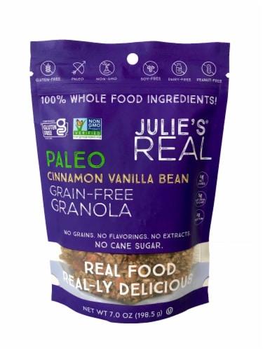 Julie's Real Cinnamon Vanilla Bean Grain Free Granola Perspective: front