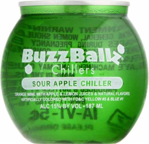 BuzzBallz Chillers Sour Apple Chiller Cocktail Perspective: front