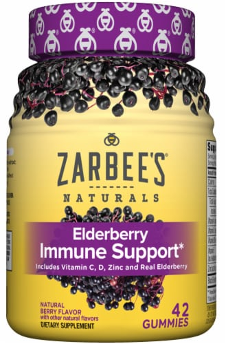 Zarbee's® Naturals Berry Flavor Elderberry Immune Support Gummies Perspective: front