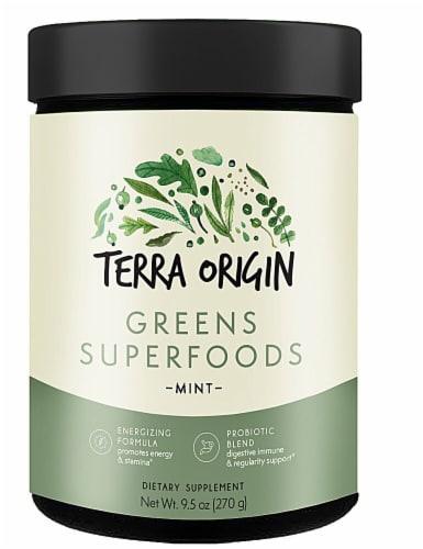 Terra Origin Greens Superfoods Powder Mint Perspective: front