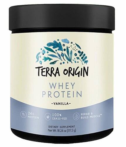 Terra Origin  Whey Protein Powder   Vanilla Perspective: front