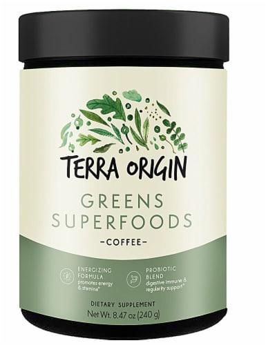 Terra Origin  Greens Superfoods Powder   Coffee Perspective: front