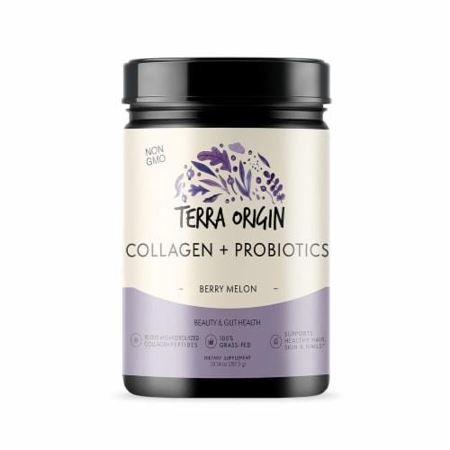 Terra Origin Collagen with Probiotics Berry Melon Powder Perspective: front