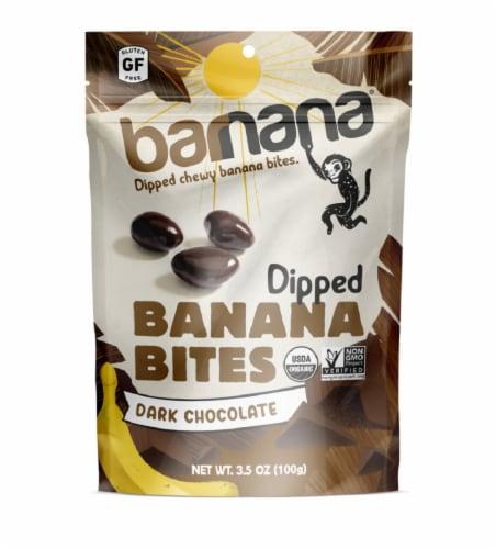 Barnana Organic Chewy Banana Dark Chocolate Bites Perspective: front