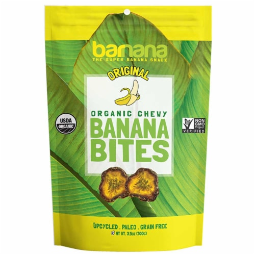 Barnana Original Banana Bites, 3.5 Ounce -- 12 per case. Perspective: front