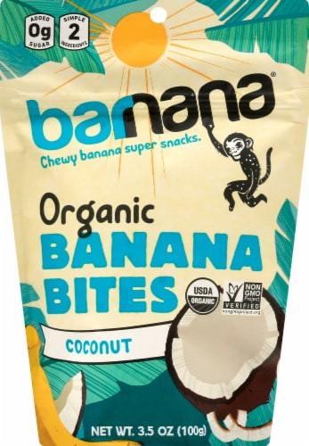 Barnana Organic Chewy Coconut Banana Bites Perspective: front
