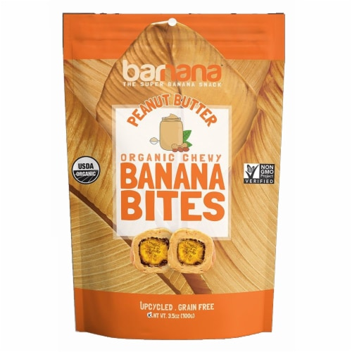 Barnana Peanut Butter Banana Bites, 3.5 Ounce -- 12 per case. Perspective: front