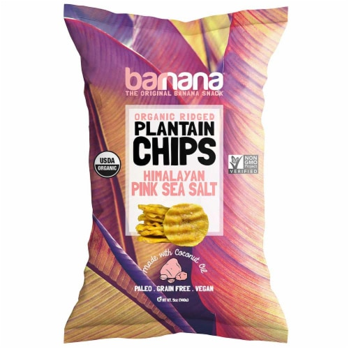 Barnana Pink Sea Salt Plantain Chips, 1.5 Ounce -- 24 per case. Perspective: front