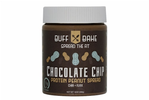 Buff Bake  Protein Peanut Butter   Chocolate Chip Perspective: front