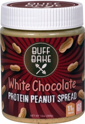 Buff Bake  Protein Peanut Spread   White Chocolate Perspective: front