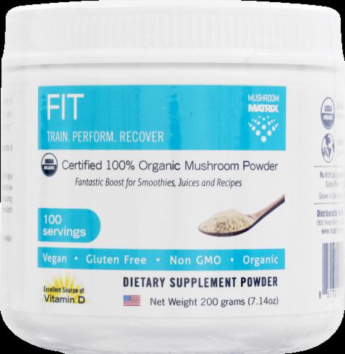 Mushroom Matrix Fit Organic Mushroom Powder Perspective: front