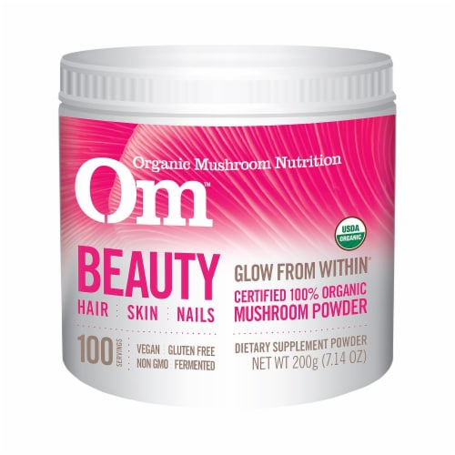 Organic Mushroom Nutrition Beauty Mushroom Powder Perspective: front