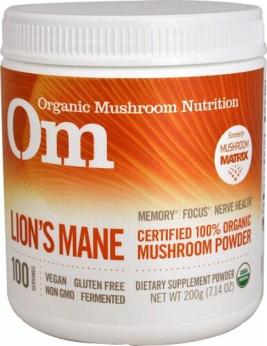 OM  Organic Mushroom Nutrition Lion's Mane Perspective: front