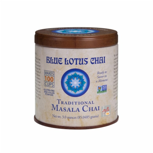 Blue Lotus Chai Traditional Masala Chai Perspective: front