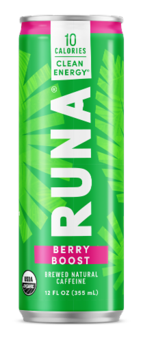 Runa Clean Berry Energy Drink Perspective: front