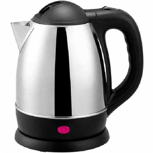 Brentwood Electric Cordless Tea Kettle - Brushed Stainless Steel Perspective: front