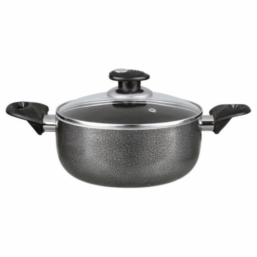 Brentwood 2 qt. Dutch Aluminum Non-Stick Dutch Oven - Gray Perspective: front