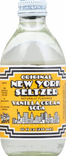 Original New York Seltzer Vanilla Cream Soda Perspective: front