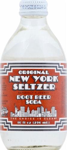 Original New York Seltzer Root Beer Soda Perspective: front