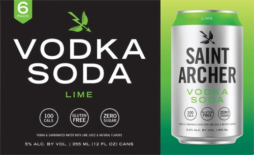 Saint Archer Brewing Company Lime Vodka Soda Perspective: front