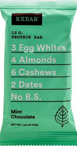 RXBAR Mint Chocolate Protein Bar Perspective: front
