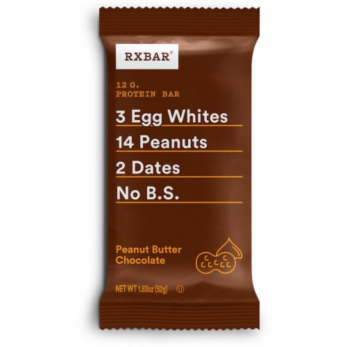 RXBAR Peanut Butter Chocolate Protein Bar Perspective: front