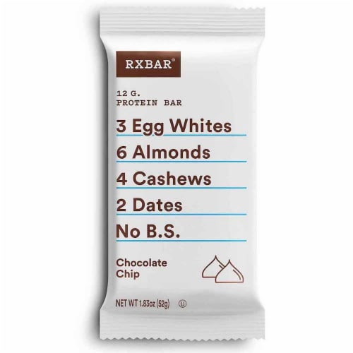 RXBAR Chocolate Chip Bar Protein Bar Perspective: front