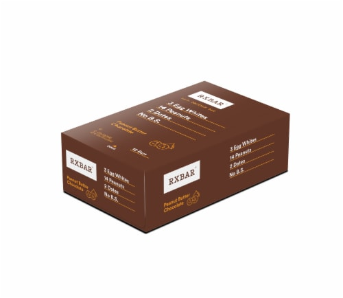 RXBAR Peanut Butter Chocolate Protein Bars 12 Count Perspective: front
