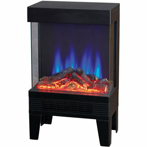 Lifesmart Contemporary 3-Sided Flame View Heater Stove Perspective: front