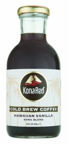 KonaRed Cold Brew Coffee Hawaiian Vanilla Perspective: front
