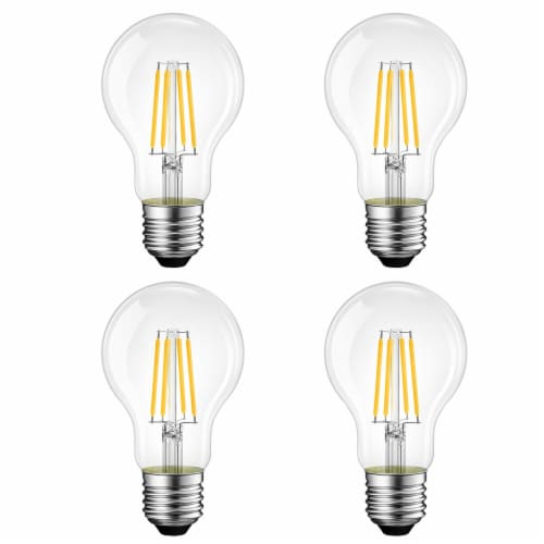Vintage Style 60W Equivalent Warm White A19 LED Light Bulb Perspective: front