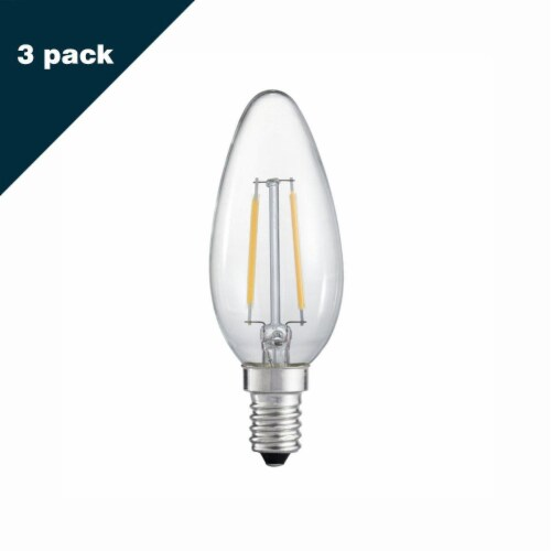 Torpedo 20W Equivalent Warm White Candelabra Dimmable LED Light Bulb Perspective: front