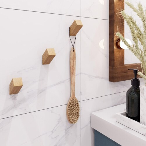 Luna Wood Wall Hooks (Set of 3) Perspective: front
