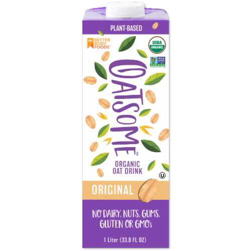 Better Body Foods Oatsome Organic Original Oat Milk Perspective: front