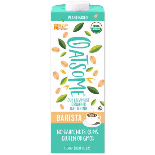 BetterBody Foods Oatsome Organic Barista Oat Drink Perspective: front