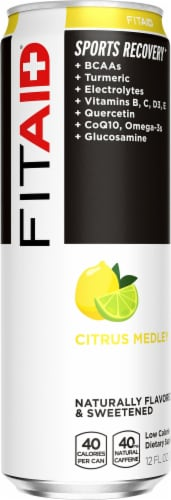 Lifeaid FitAid Recovery Blend Supplement Energy Drink Perspective: front