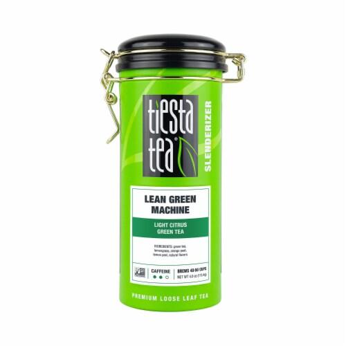 Tiesta Tea Lean Green Machine Light Citrus Loose Leaf Green Tea Perspective: front