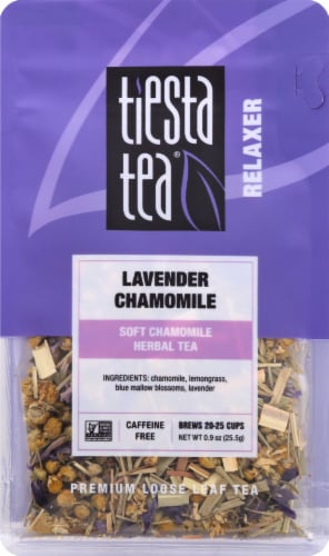 Tiesta Tea Relaxer Lavender Chamomile Loose Leaf Tea Perspective: front