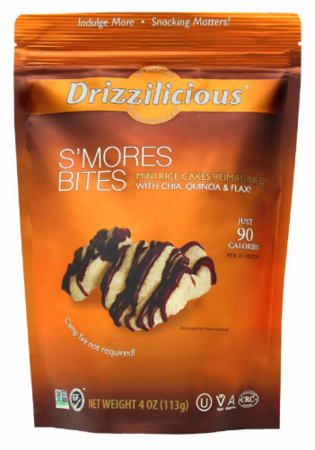 Drizzilicious S'mores Crunchy Drizzle Bites Perspective: front