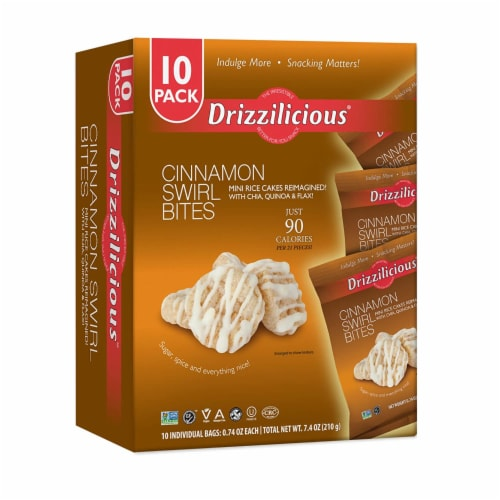 Drizzilicious Cinnamon Swirl Bites Perspective: front