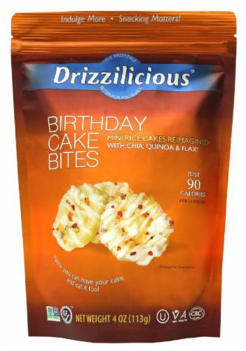Drizzilicious Birthday Cake Bites Mini Rice Cakes Perspective: front