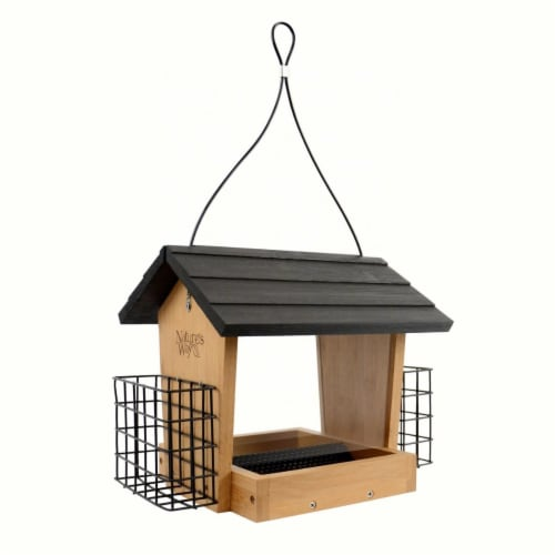 Natures Way Bird Products 228115 3 qt Bamboo Hopper Feeder Perspective: front