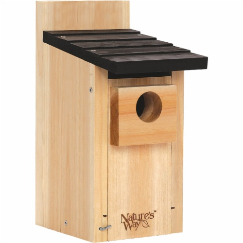 Natures Way Bird Products Bluebird Box House Perspective: front