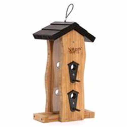 Natures Way Bird Products 2 qt Vertical Wave Feeder  Bamboo Perspective: front