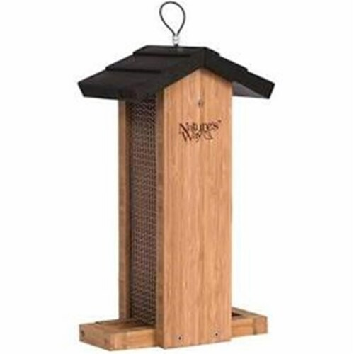 Natures Way Bird Products Bamboo Vertical Mesh Bird Feeder Perspective: front