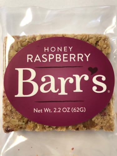 Mrs. Barr's Natural Foods Honey Raspberry Granola Bar Perspective: front