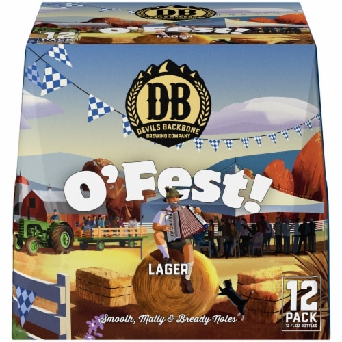 Devils Backbone Brewing Company O'Fest Beer Perspective: front