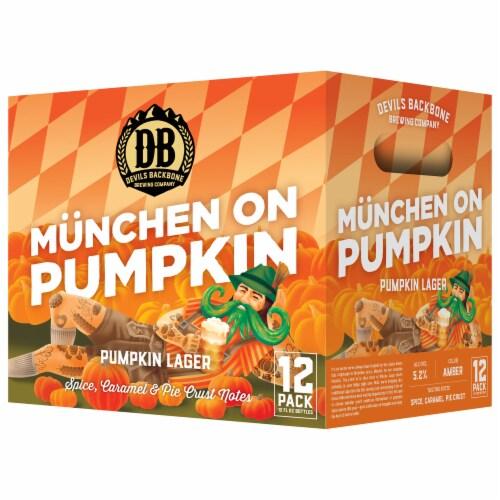 Devils Backbone Munchen on Pumpkin Lager Perspective: front