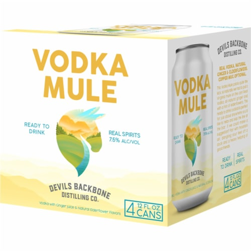 Devils Backbone Brewing Company Vodka Mule Ready to Drink Canned Cocktail Perspective: front