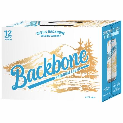 Devils Backbone Brewing Company Backbone Premium Lager Perspective: front